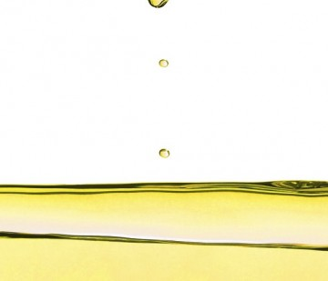 Detail of olive oil liquid drop droplet